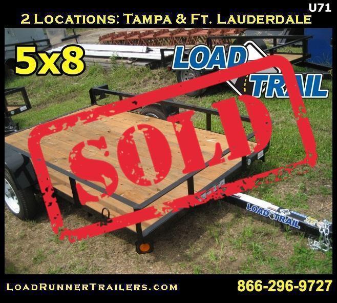 U71| 5x8 Load Trail Utility Trailer | 8 x 8 Lawn Trailer | LR Trailers |U71