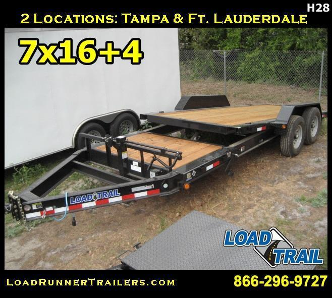 *H28* 7x16+4 Gravity Tilt Equipment Hauler Trailer 7 TON 7 x 16+4 | T83-16+4T7T-GT