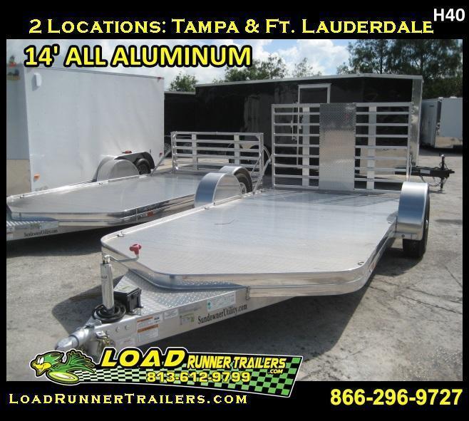 *H40* 7x14  Motorcycle  Hauler  Trailer All Aluminum 7 x 14 | U81-14ST3-1B-BFG