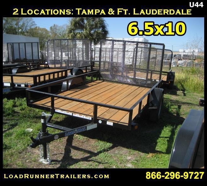 *U44* 6.5x10 Utility Trailer Lawn Maintenance Trailers | U77-10S-AR | 6.5 x 10