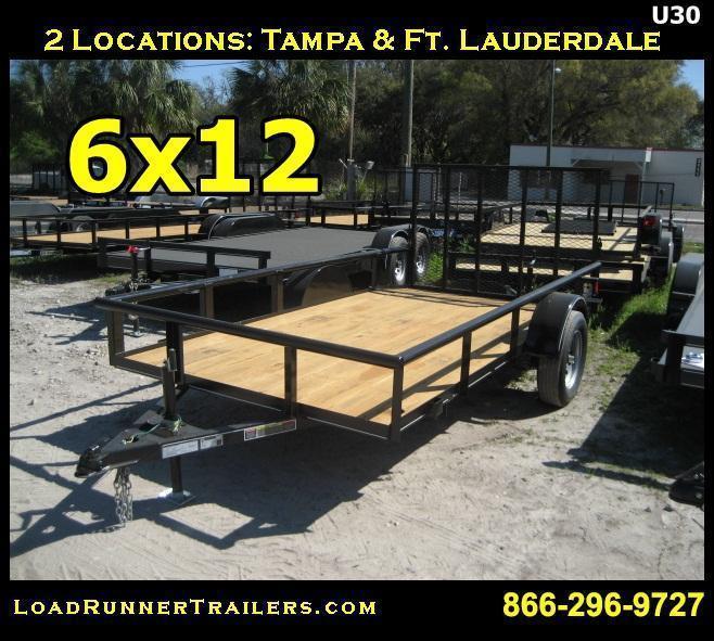 *U30* 6x12 Utility Lawn Trailer Load Runner Trailers | U72-12S-PR-DT | 6 x 12