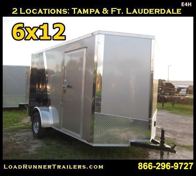 E4H| 6x12 Single Axle*Enclosed*Trailer*Cargo*| LR Trailers | 6 x 12 | E4H