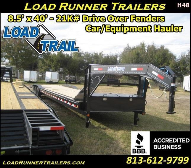 *H48* 8.5x40 Gooseneck Hauler Trailers Car Trailers 8.5 x 40   CHG102-40TT7-DOF