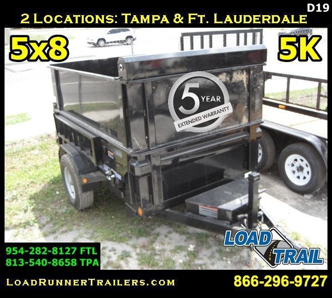 *D19* 5x8 Dump Trailer | Heavy Duty 5200# Dexter Axle 5 x 8 | D60-8S5-18S