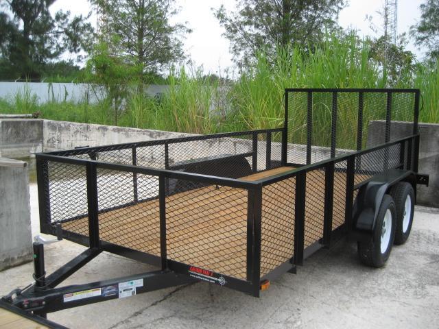 *U35* 6.5x14 Utility Trailer Tandem 3500# Axles w/Ramp 6.5 x 14 | U78-14T3-0B-AR/2M