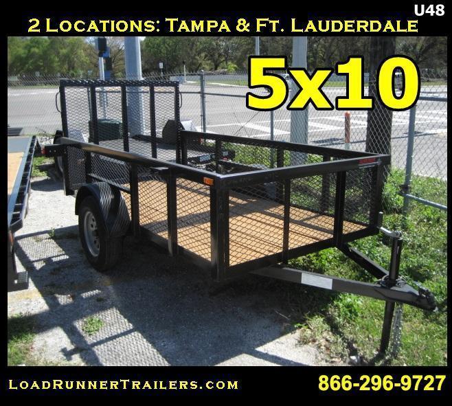 *U48* 5x10 Utility Lawn Trailer Load Runner Trailers | U60-10S-TR-2M | 5 x 10