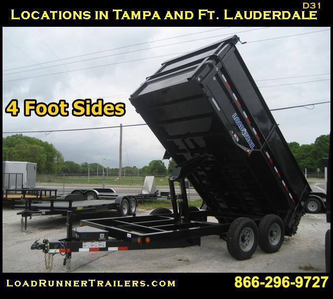 *D31* 7x14  Dump Trailer 7 Ton 4' SIDES Load Trail 7 x 14   D83-14T7-48S