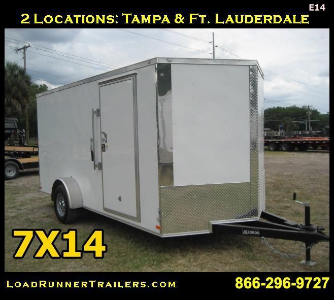 E14| 7x14 Single Axle*Enclosed*Trailer*Cargo* | 7 X 14