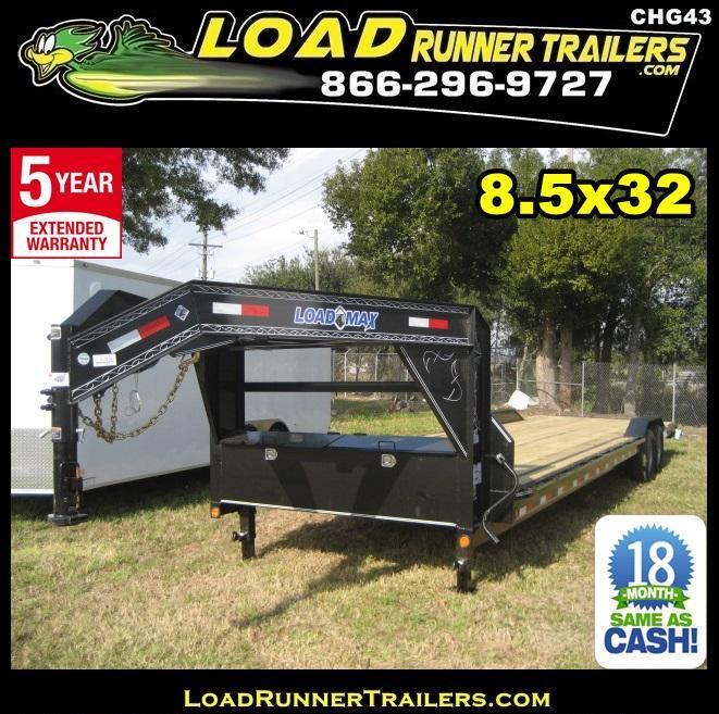 *CHG43* 8.5x32 Load Trail Gooseneck Trailer Car Hauler 8.5 x 32   CHG102-32T7-DOF