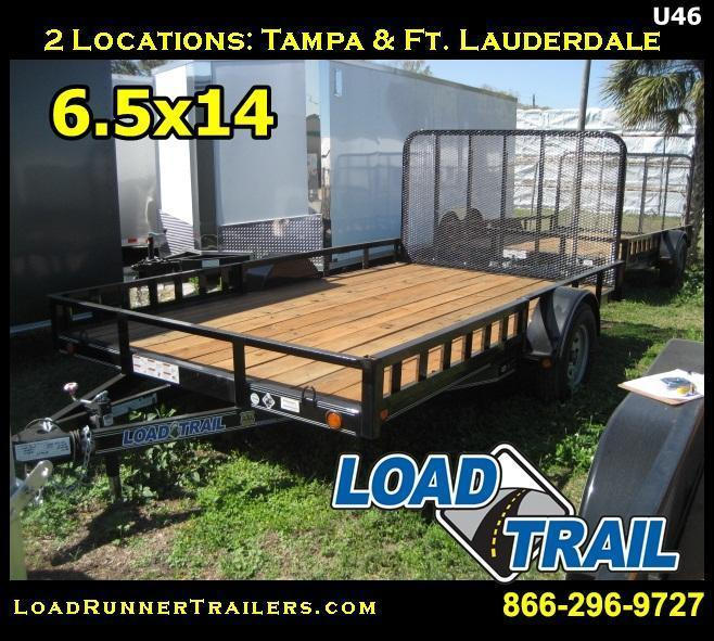 *U46* 7x12 ATV Utility Trailer Side Ramps Trailers | U83-12S-SR/AR | 7 x 12