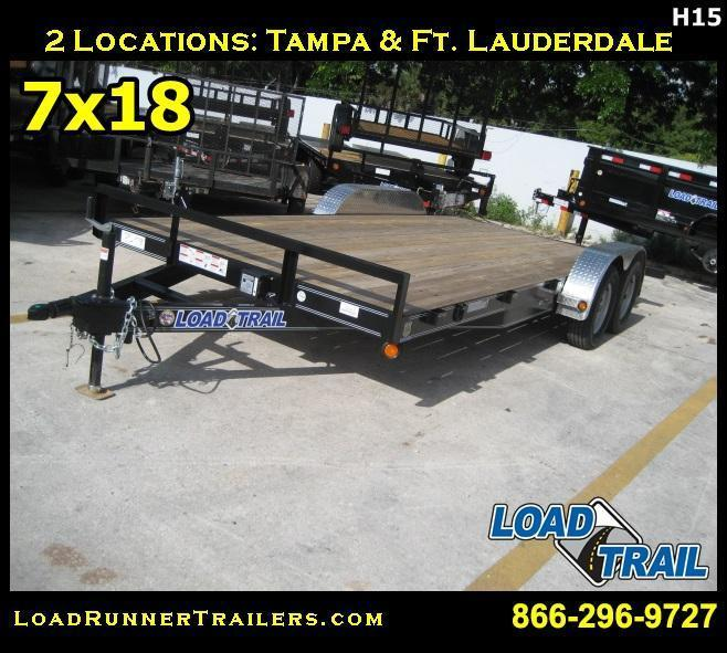 *H15* 7x18 7K Car Hauler Trailer Aluminum Removable Fenders 7 x 18 | CH83-18T3-2B-ARF