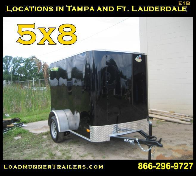 E1B| 5x8*Enclosed*Trailer*Cargo* | 5 x 8 | Load Runner Trailers