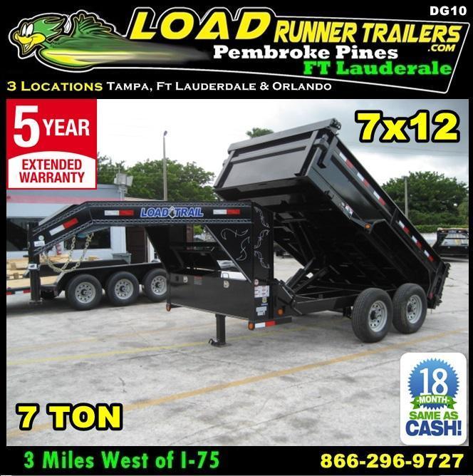 *DG10* 7x12 Gooseneck Dump Trailer 7 TON Load Trail Trailers 7 x 12 | DG83-12T7-24S