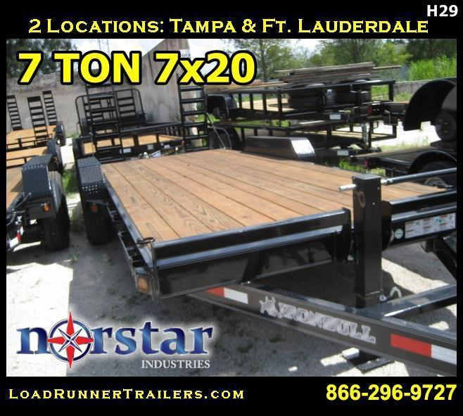 *H29* 7x20 Equipment Hauler Trailer 7 TON Norstar 7 x 20 | EQ83-20T7-KR