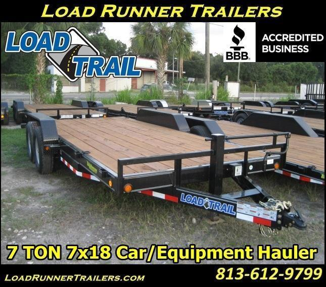H37| 7 TON 7x18 Car / Equipment Hauler Trailer |LR Trailers & Haulers | H37