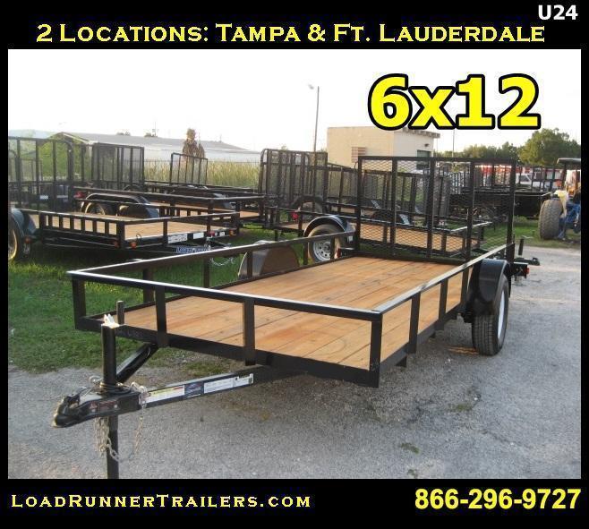 *U24* 6x14 Utility Trailer Lawn Maintenance | U72-14S-AR | 6 x 14