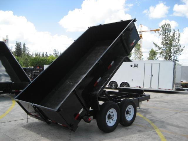 *D11C* 6x12 6 TON Dump Trailer | Dumps & Trailers 6 x 12 | D72-12T6-24S