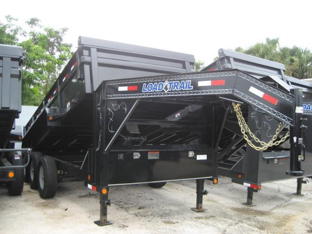 *D21* 7x16 Gooseneck Dump Triple Axle Trailer|21K 10 TON 7 x 16 | DG83-16TT7-24S