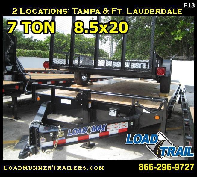 *F13* 8.5x20 Flatbed Deck Over 7 TON Trailers 8.5 x 20 | FC102-20T7-MPD