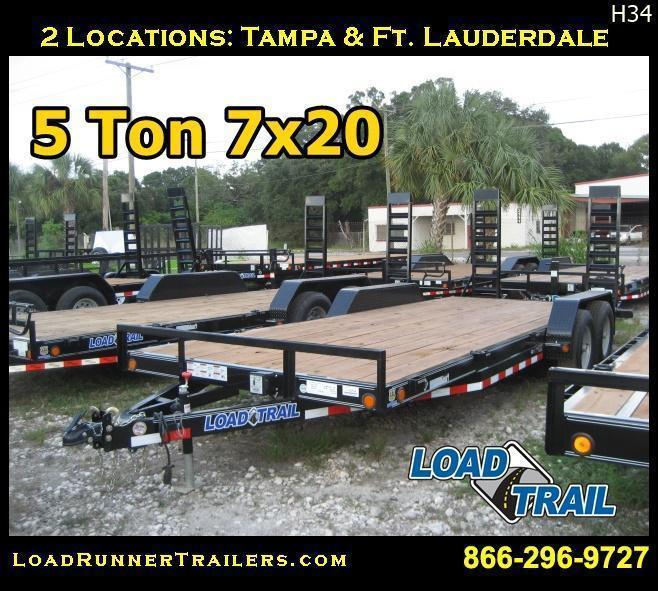 5 TON 7x20 Equipment / Car Hauler Trailer |LR Trailers & Haulers | H34