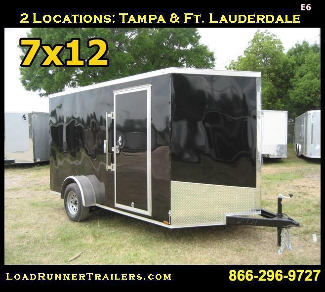 E6| 7x12 Single Axle*Enclosed*Trailer*Cargo*|7 x 12| LRTrailers