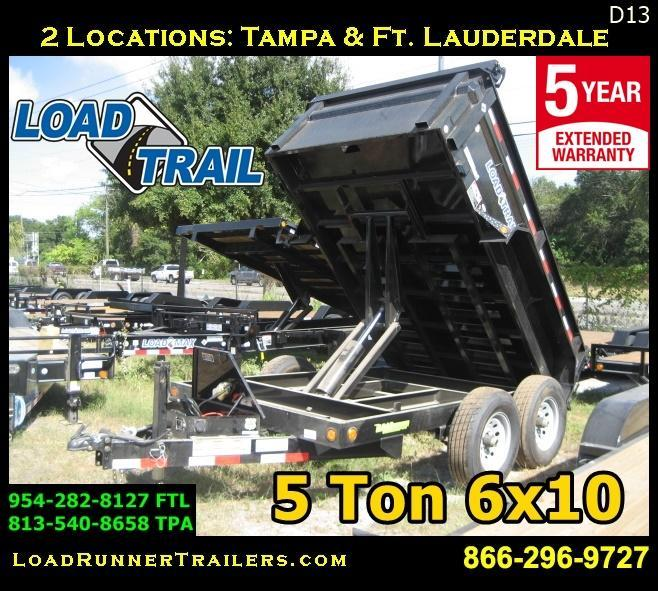 *D13* 6x10 Load Trail Dump Trailer 5 TON Trailers 6 x 10   D72-10T5-24S