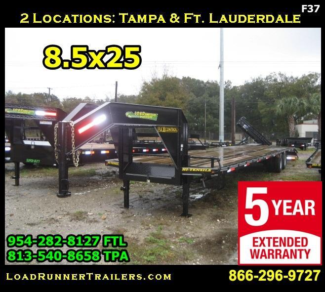*F37* 8.5x25 Flatbed Gooseneck 7 TON Trailer 8.5 x 25 | FG102-25T7-MPD
