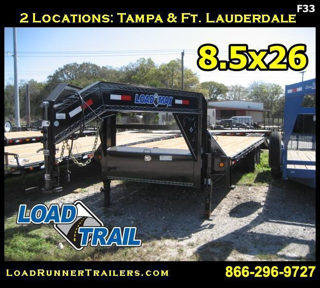 *F33* 8.5x26 Gooseneck Flatbed Deck Dove Tail 7 TON | FG102-26T7-FF | 8.5 x 26
