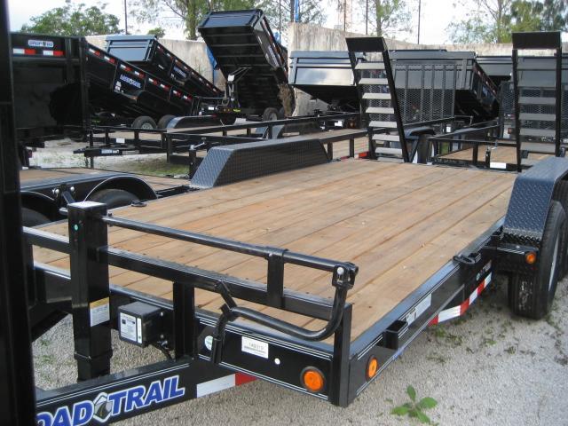 *H55* 7x16 7 TON Equipment Hauler Trailer w/Kicker Ramps 7 x 16 | EQ83-16T7-KR