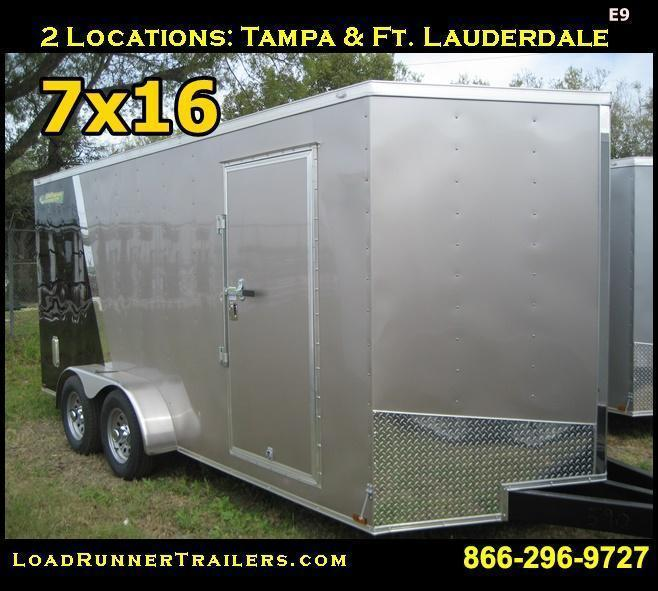 E9| *Enclosed*Trailer*Cargo* 7x16 Tandem Axle | LR Trailers | 7 x 16