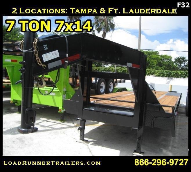 *F32* 8.5x32 Gooseneck Flatbed Trailer Low Profile 10 TON 8.5 x 32 | FG102-32T10-LP/FF