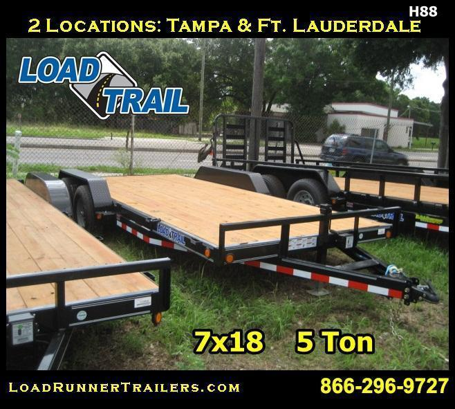 H88 | 7x18 5 TON Car & Equipment Hauler Trailer | Load Runner Trailers