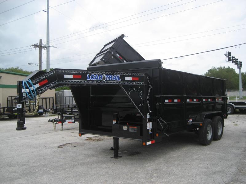 D32 | 4 Ft Sides LOAD TRAIL Dump Trailer 7x16 7 TON Gooseneck | 4 Foot