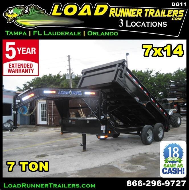 *DG11* 7x14 Load Trail Dump Trailer 7 TON Gooseneck Trailers 7 x 14   DG83-14T7-24S