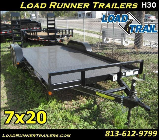 *H30* 7x20 Equipment Hauler Trailer 7K with Kicker Ramps 7 x 20   EQ83-20T3-2B-SD/KR