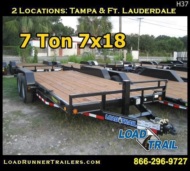 7 TON 7x18 Car / Equipment Hauler Trailer |LR Trailers & Haulers | H37
