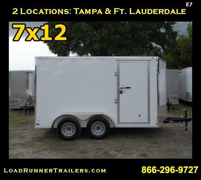 E7| 7x12 Tandem Axle|  LRTrailers | 7 x 12 *Enclosed*Trailer*Cargo*