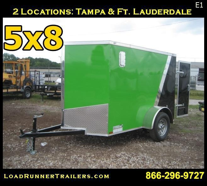 E1| 5x8*Enclosed*Trailer*| LRT |*Cargo*| 5 x 8 |