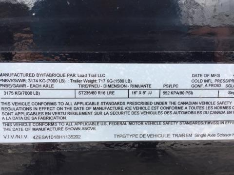 *T10* 5x10 Tilt Deck Bobcat Hauler 7K Torsion Axle 5 x 10   T60-10S7T-SD/GT