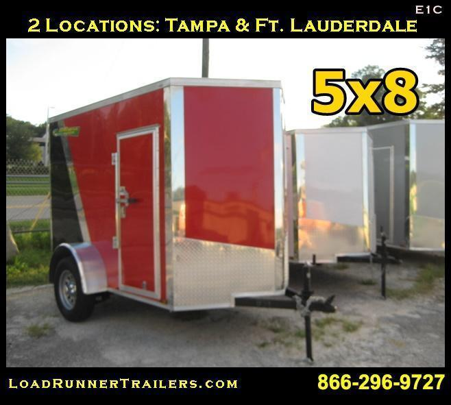 E1C| 5x8*Enclosed*Trailer*| Load Runner Trailers |*Cargo*| 5 x 8 | E1C