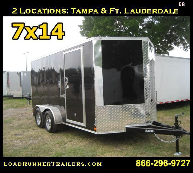 E8| 7x14 Tandem Axle*Enclosed*Trailer*Cargo* | 7 x 14 | LR Trailers