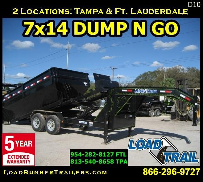 *D10* 7x14 Dump N Go Trailer Gooseneck 7 TON w/Winch 7 x 14 | DNG/DG83-16TT7-FRAME