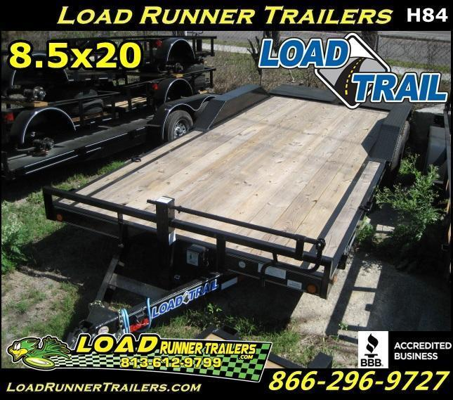 *H84* 8.5x20 Equipment Hauler Trailer Car Trailers 8.5 x 20 | EQ102-20T7