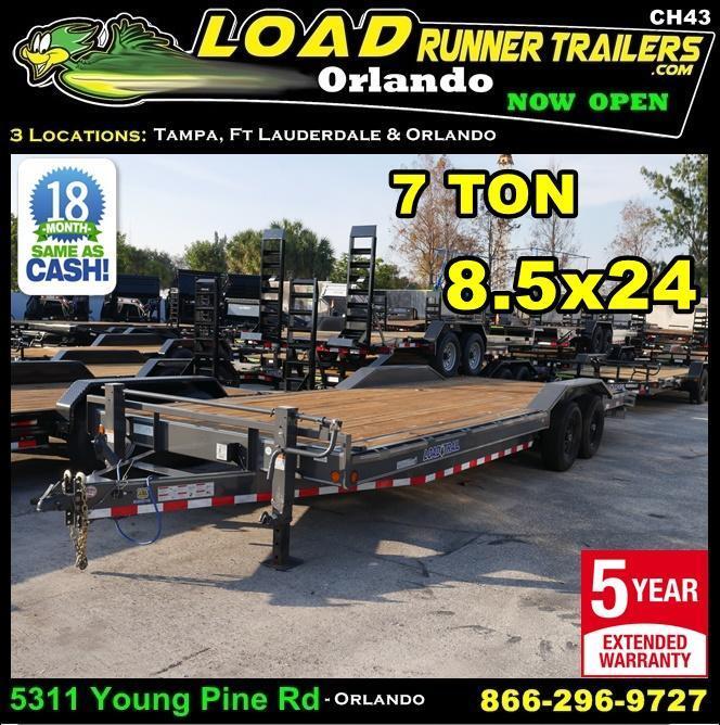 *CH43* 8.5x22 Car Hauler Trailer  7 TON Haulers & Trailers 8.5 x 22   CH83-20T7