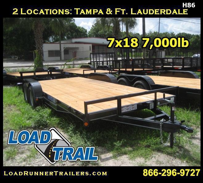H86 | 7x18 LOAD TRAIL 7K Equipment Hauler Trailer | LR Trailers
