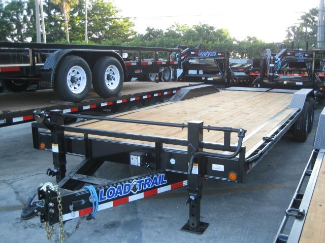 *H81* 8.5x24 7 TON Car Hauler Trailer w/Drive Over Fenders 8.5 x 24 | CH102-24T7-DOF