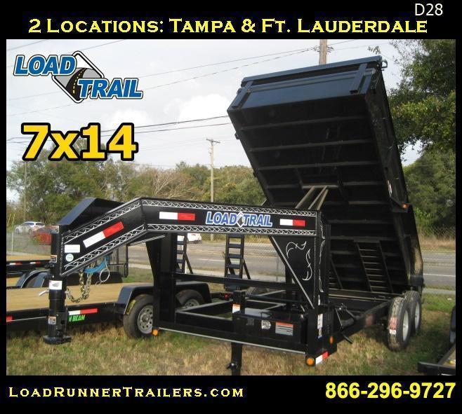 *D28* 7x14 Dump Trailer 14K 7 TON Gooseneck 7 x 14 | DG83-14T7-24S