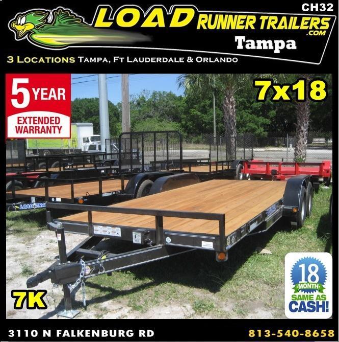 *CH32* 7x18 7K Car Hauler Trailer Haulers & Trailers w/brakes 7 x 18 | CH83-18T3-1B
