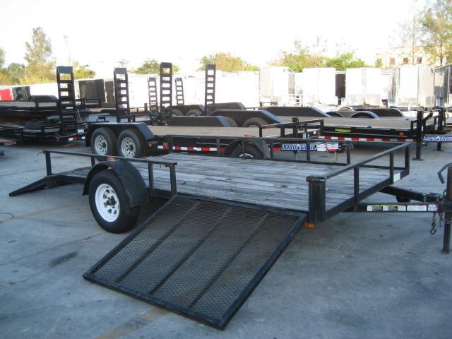 *U21* 7x12 ATV Utility Trailer W/ Side Ramp |LR Trailers 7 x 12 | U83-12S-SR/TR