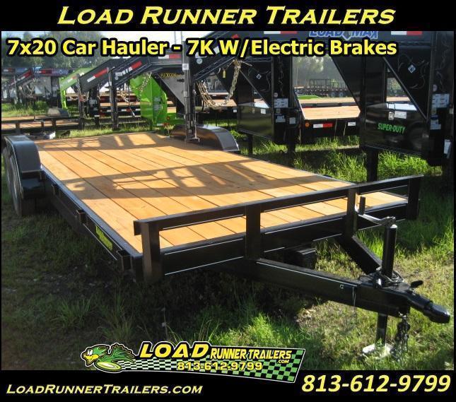 7x20 Car / Equipment Hauler | 7K w/Brakes | Haulers & Trailers | H12